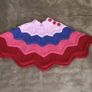 Children's place multicolor knit poncho